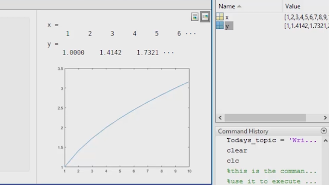 Write a basic MATLAB Program using Live Scripts and learn the concepts of indexing, if-else statements, and loops.